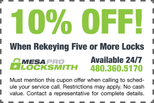 10% off lock rekey